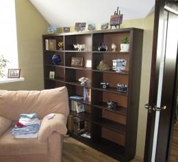Шкаф для книг, ДСП Kronopol Венге Магия, ПВХ REHAU 36 мм.