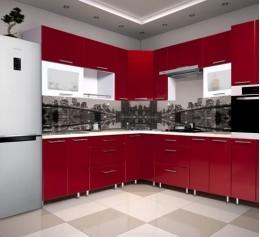 Угловая кухня «Красная»