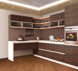 Угловая кухня в стиле Модерн