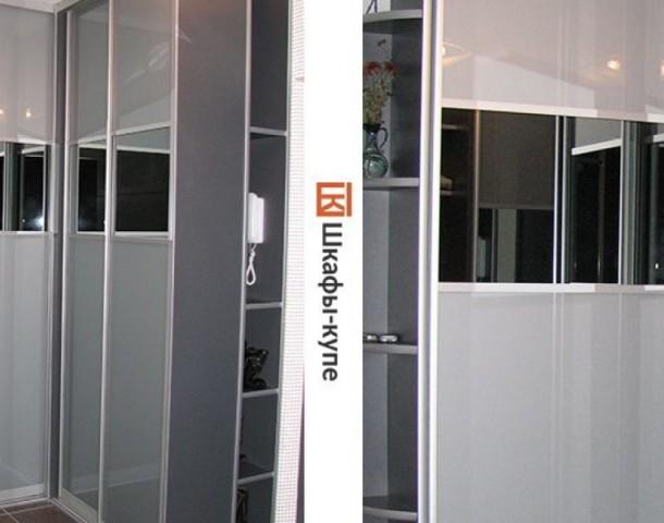 Шкаф угловой серый