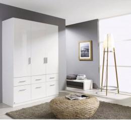 Белый шкаф с ящиками