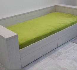 Кровать односпальная, ДСП EGGER H1401 ST22 Сосна Касцина срощенное